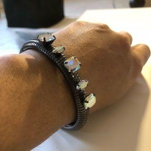Jewelry - Iridescent hematite rhinestone cuff bracelet